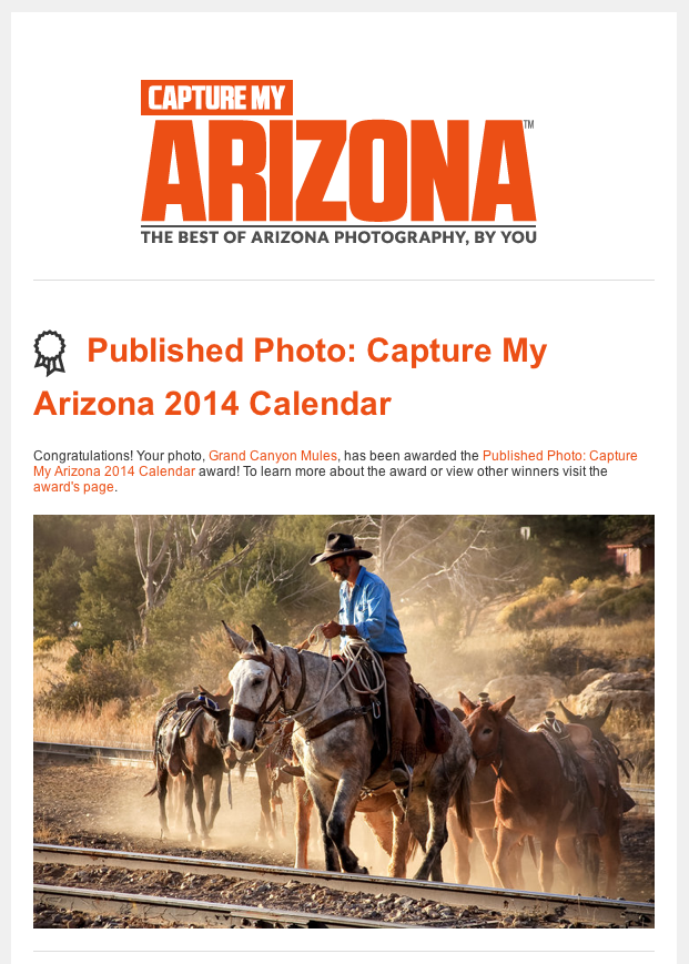Published photo capture my arizona 2014 calendar studio for How to get my photographs published